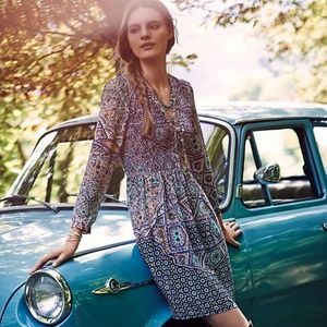 ANTHROPOLOGIE | Maeve Amethyst Tiled Dress Small S